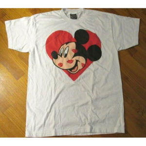 Disney Shirts - Disney Mickey Mouse Unlimited Heart Lips Kisses